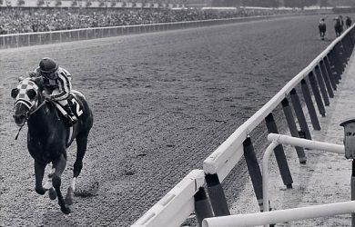Secretariat winning the Belmont Stakes by 31 lengths (photo via Secretariat.com).