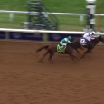 Nyquist winning the 2015 Breeders' Cup Juvenile.