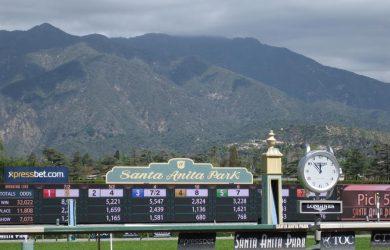 Santa Anita at the finish