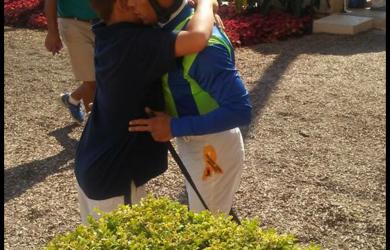 Hugs at Del Mar