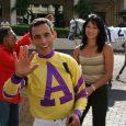 Jockey John Velazquez and Michelle Nihei (photo courtesy of Michelle Nihei).