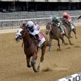 Tiz the Law winning at Belmont Stakes 2020