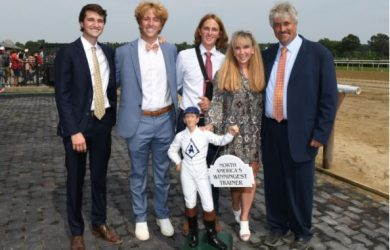Steve Asmussen and his family - Photo Courtesy of NYRA
