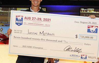 Justin Mustari wins the National Horseplayers Championship - Photo Courtesy of Horsephotos