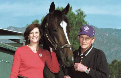Sandy Robbins, Tiznow and Jay Robbins in 2001 - Photo Courtesy of Benoit Photo