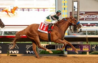 Tripoli wins the Pacific Classic Stakes - Photo Courtesy of Benoit Photo